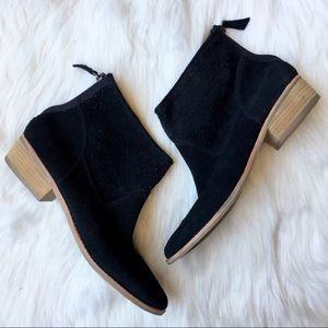 Dolce Vita black suede booties - size 10